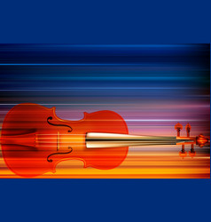 abstract grunge music background with violin vector image vector image