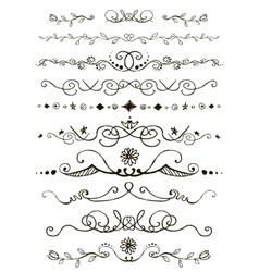 Doodles border vector image vector image