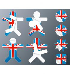 uk collection of peeling stickers vector image vector image