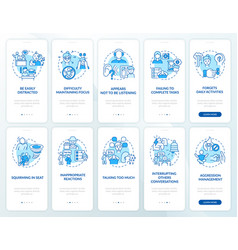 Adhd diagnosis onboarding mobile app page screen vector