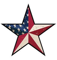 american patriotic barn star vector image