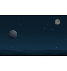 Art of planet outer space vector