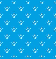 aspirin pattern seamless blue vector image