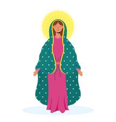 Assumption beautiful mary virgin vector