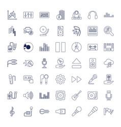 Audio icons vector