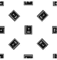 bible pattern seamless black vector image