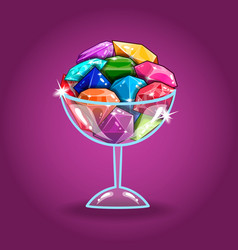 big set of jewel in the glass vector image