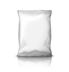 Blank realistic foil snack pack isolated on white vector