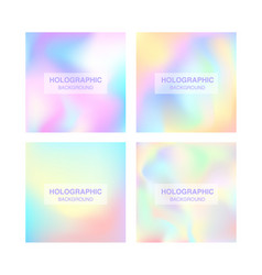 blurred foil holographic background vector image