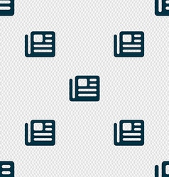 book newspaper icon sign Seamless pattern with vector image