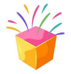 Box with splashes vector