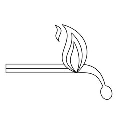 burning match icon outline style vector image