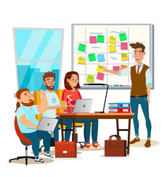 Business characters scrum team work office vector