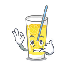 Call me lemonade mascot cartoon style vector