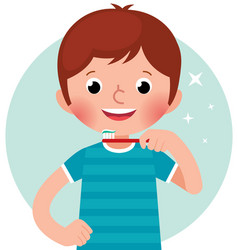 cartoon of a cute little boy vector image