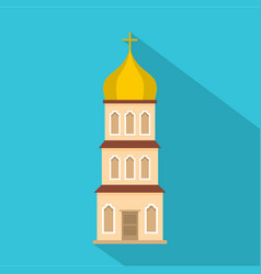 Church tower icon flat style vector