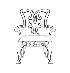 Classic royal chair vector image