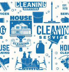 cleaning services seamless pattern or background vector image