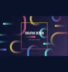 colorful geometric background minimal abstract vector image