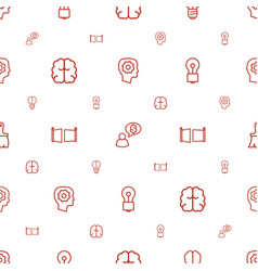 Creativity icons pattern seamless white background vector