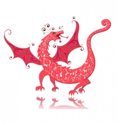 dragon vintage vector image