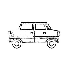 Drawing car vehicle transport sedan icon vector