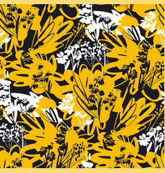 Dynamic summer mood floral seamless pattern vector