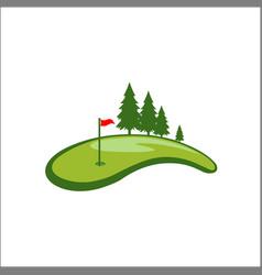 field golf logo template vector image