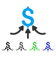Financial accumulator flat icon vector