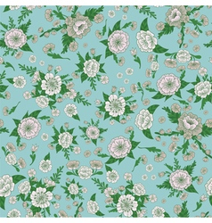 Floral Background Flowers Seamless Pattern vector