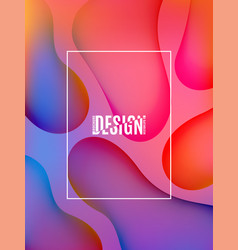 fluid abstract colorful shapes composition trendy vector image