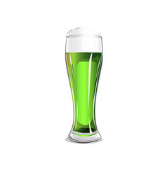 glass with green beer vector image