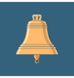 Gold Bell Ship Equipment vector image