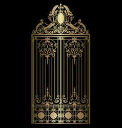 Gold vintage gate vector