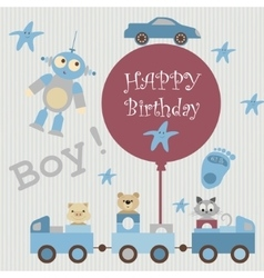 Greeting card for baby3 vector image