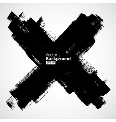 Grunge cross on the white background vector image vector image