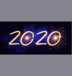 happy new 2020 year winter holiday design template vector image
