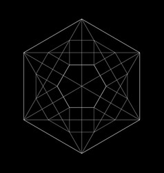 harmonic sacred geometry plato the vector image