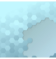 Hexagon cell template - modern background vector image