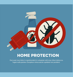 Home protection means against harmful insects vector