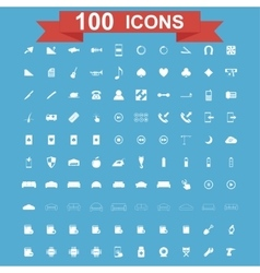 Icon set Universal website Construction vector image