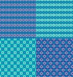 Jewish star patterns vector