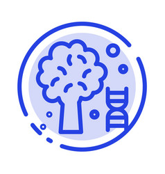Knowledge dna science tree blue dotted line line vector