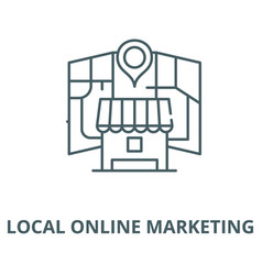 Local online marketing line icon linear vector