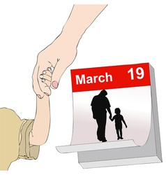 March 19 feast all dad vector