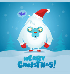 Merry christmas and happy new year funny poster vector