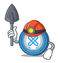Miner gxshares coin mascot cartoon vector