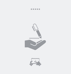 pen - minimal modern icon vector image