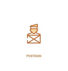 Postman concept 2 colored icon simple line vector