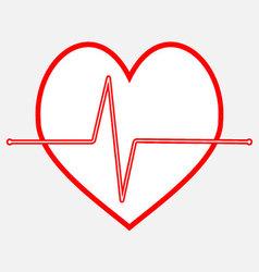 Pulse heartbeat icon line vector
